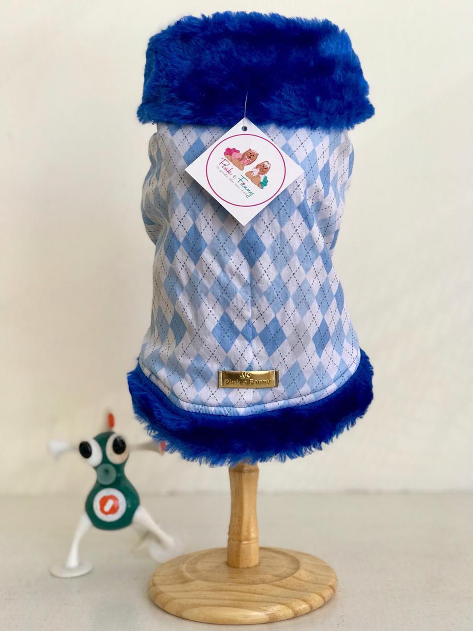 Casaco Xadrez Azul