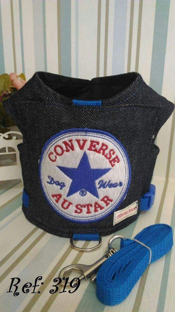 Coleira Peitoral para Cachorro Au Star Jeans