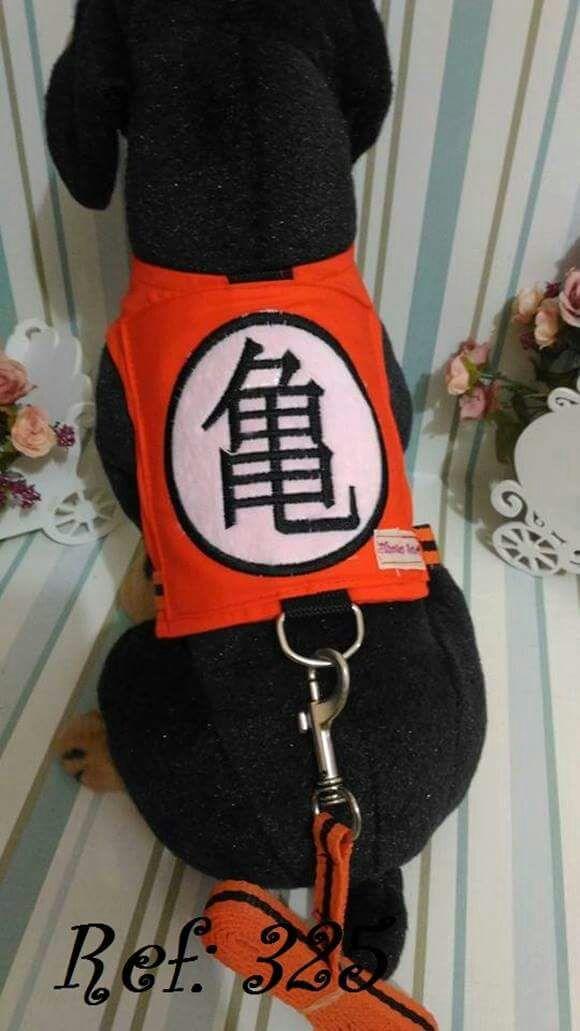 Coleira Peitoral para Cachorro Goku