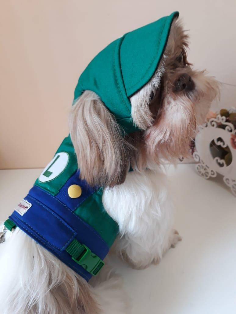Coleira Peitoral para Cachorro Luigi