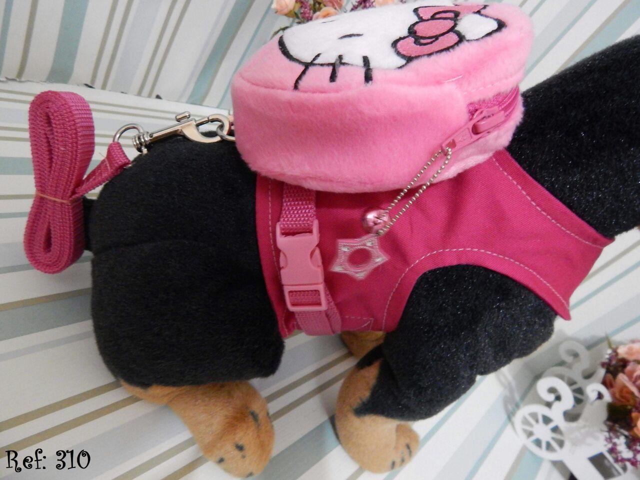 Coleira Peitoral Mochila para Cachorro - Hello Kitty