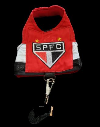 Coleira Peitoral para Cachorro - Time São Paulo