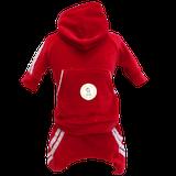 Conjunto Esporte Plush Vermelho e Branco