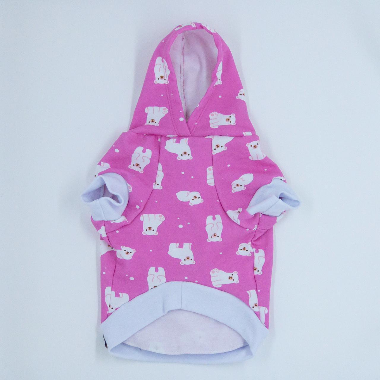 Blusa de Moletom para Cachorro Urso Polar- Rosa