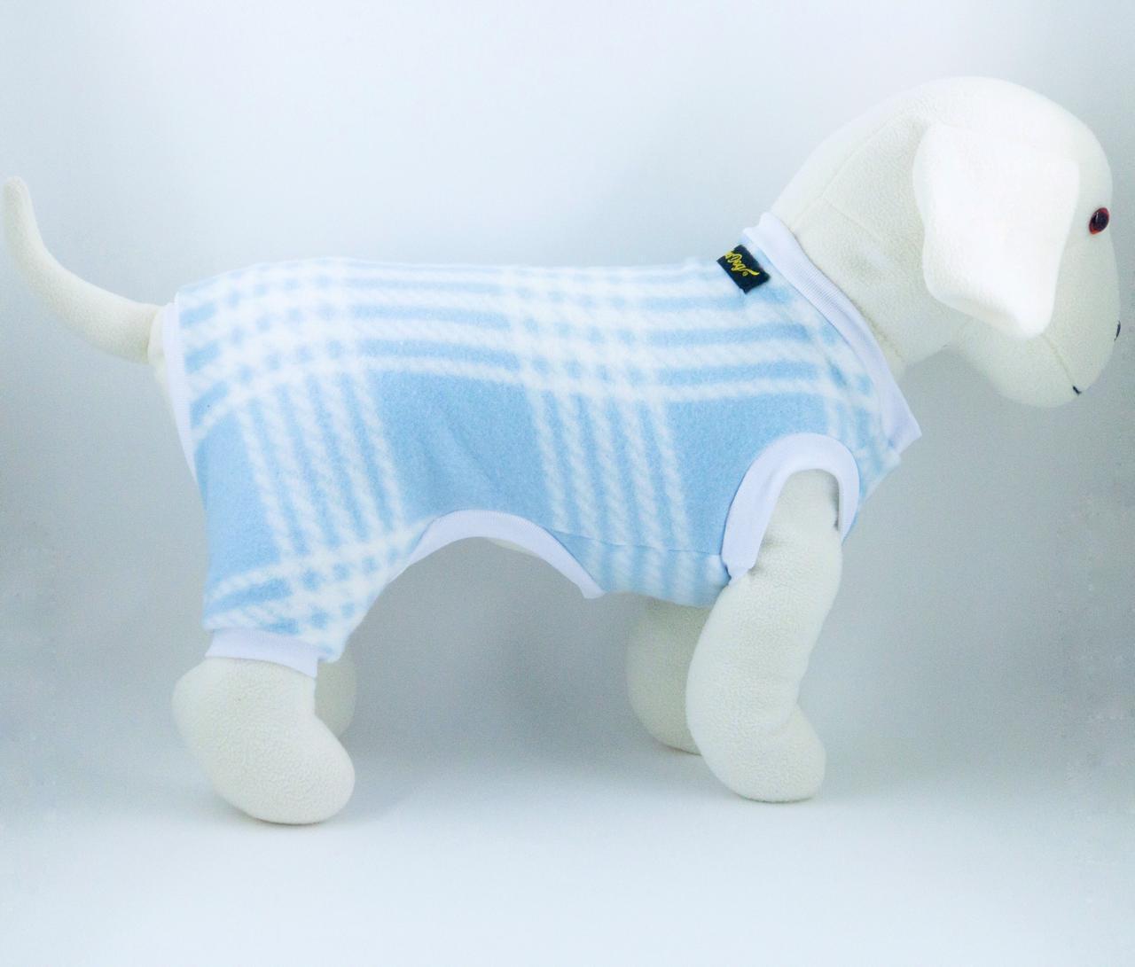 Macacão de Soft Xadrez- Azul bebê