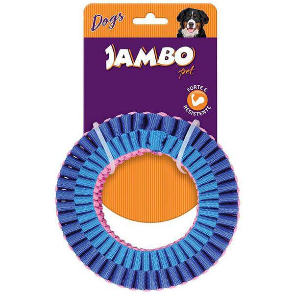 Brinquedo Mordedor para Cachorro Corda Twist Top Resist Ring Azul e Rosa