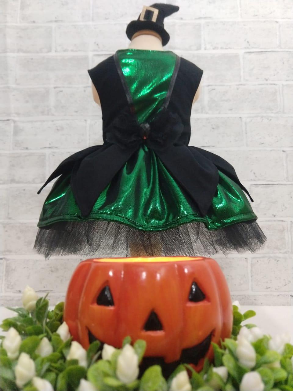 Fantasia para Cachorro Bruxa Verde Halloween