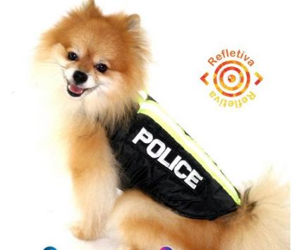 Fantasia para Cachorro Capa Policia