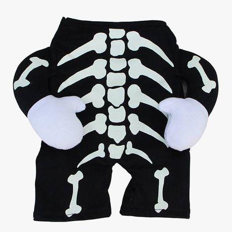 Fantasia para Cachorro Esqueleto - Bracinhos - Halloween