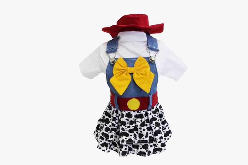 Fantasia para Cachorro Jardineira Jessie Toy Story
