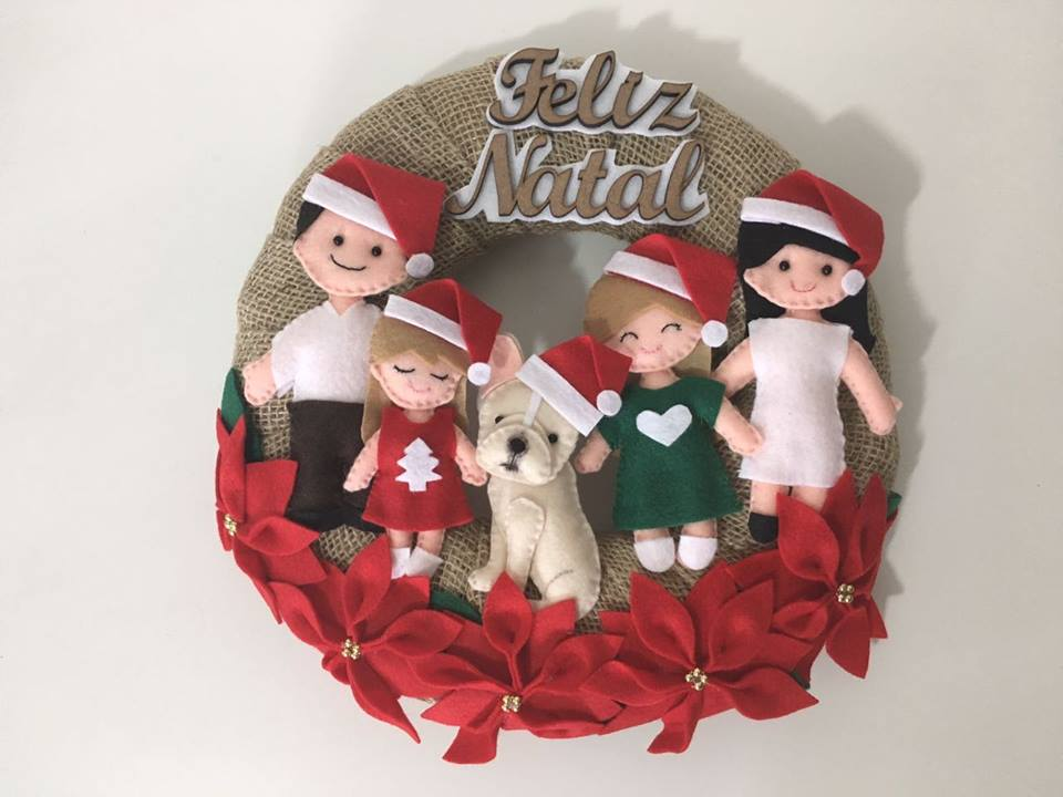 GUIRLANDA  DECORATIVA FAMILIA - NATAL