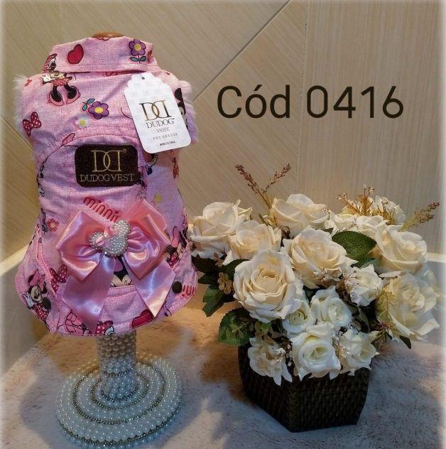Jaqueta minnie forrada pelo rosa