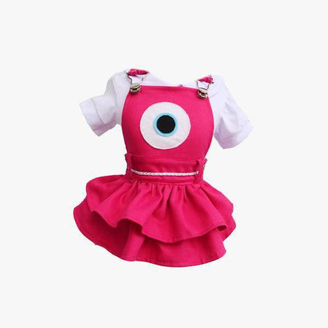 Jarineira  Vestido Monstros SA  Mike Wazowski Pink - Fêmea