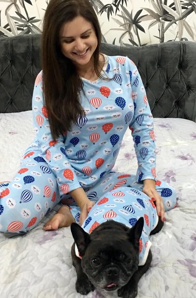 Kit Pijama Tal Família, Tal Pet (Diversas Estampas)=2 Pet + Adulto