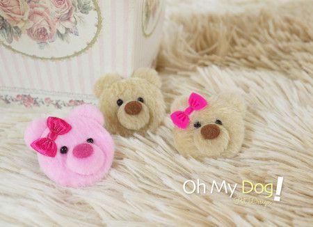 Mini Laço para Cachorro - Ursinho - Diversas Cores