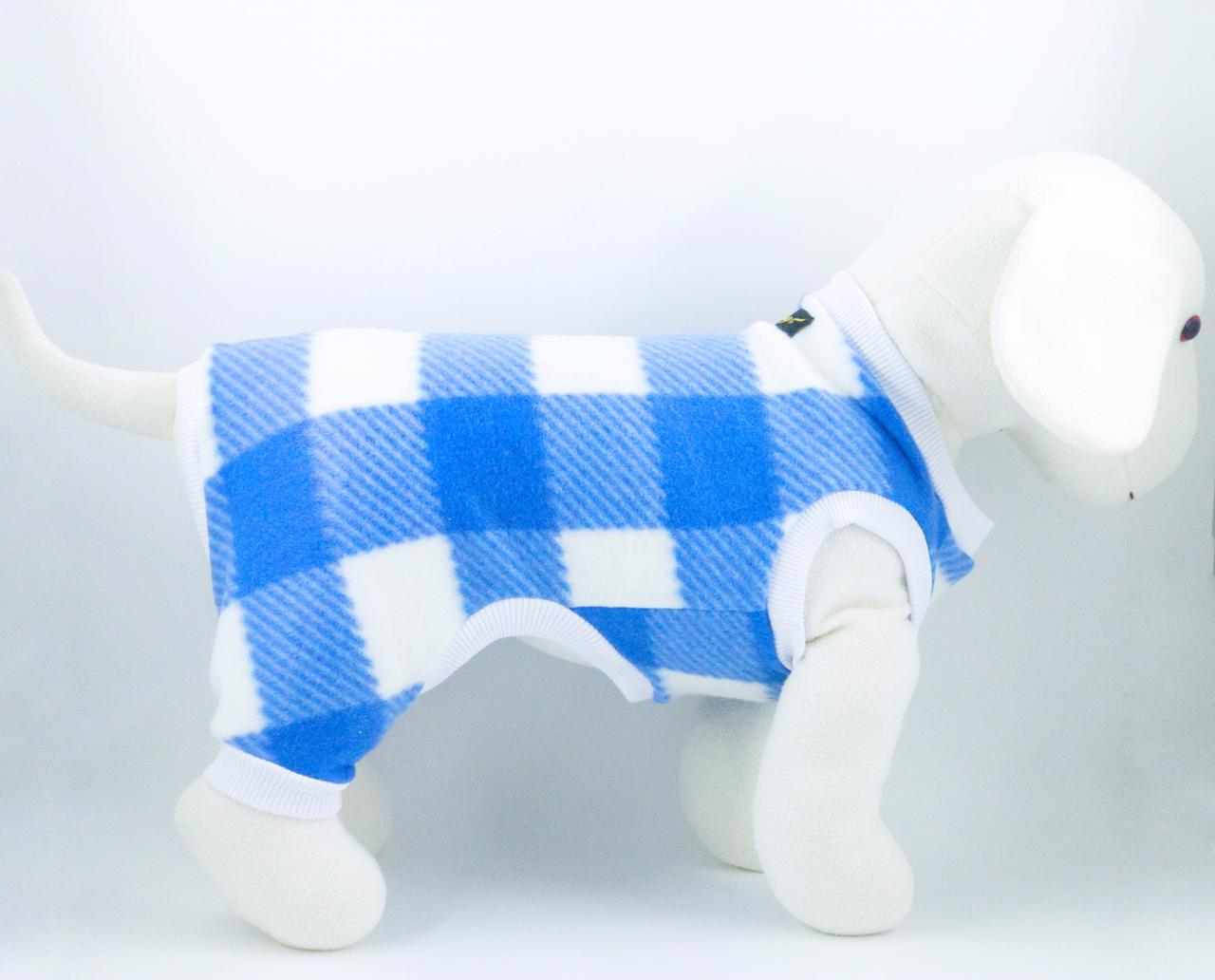Macacão de Soft Xadrez- Azul