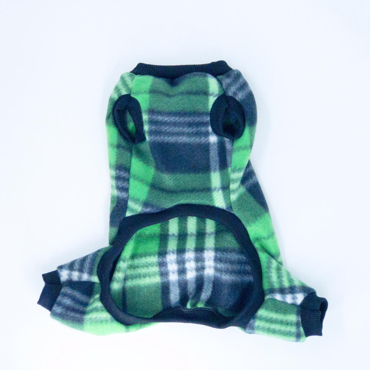 Macacão de Soft Xadrez- Verde