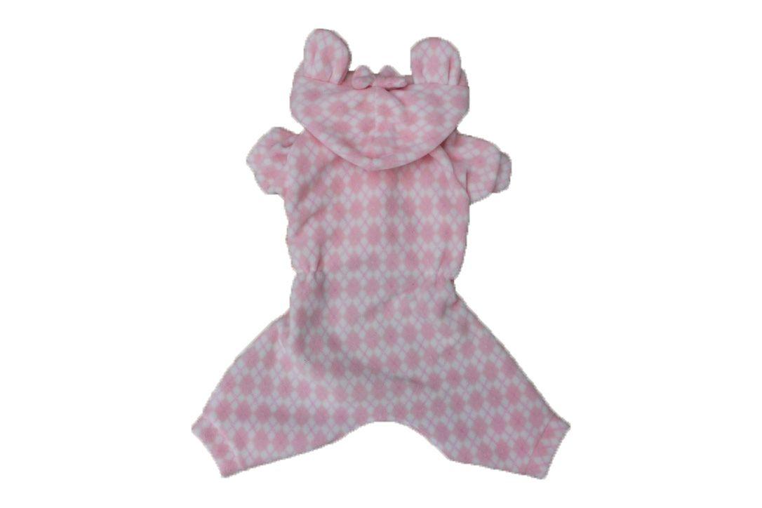 Pijama Soft para Cachorro Xadrez Rosa