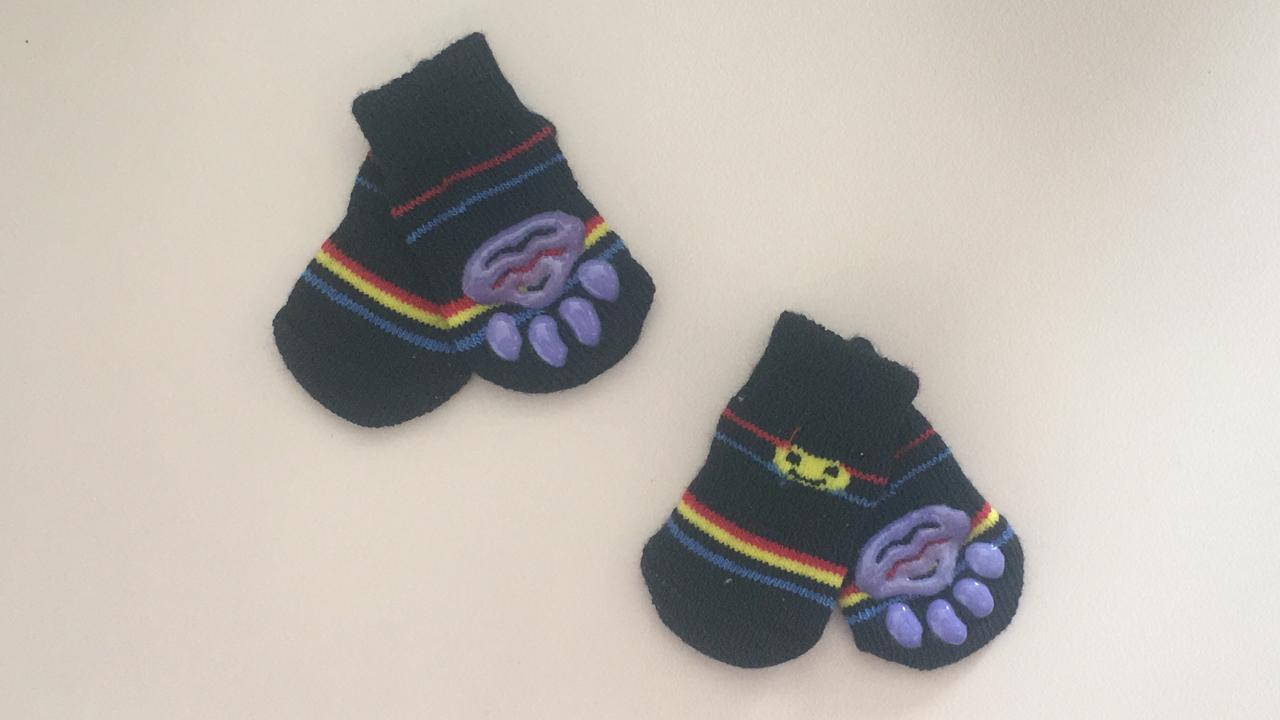 Meia Antiderrapante Para Cães E Gatos - Pac Man