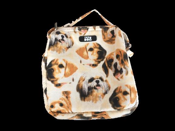 Mini Bolsa para Cachorro - Estampa Cachorrinhos