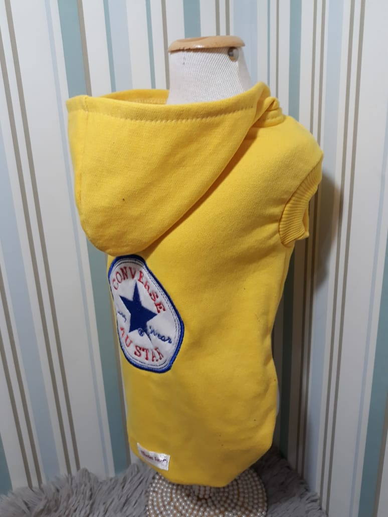 Blusa de Moletom Austar Converse Amarelo