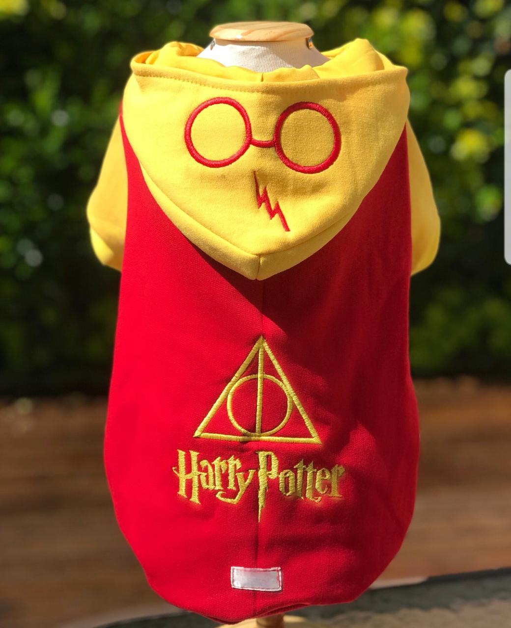 Blusa Moletom para Cachorro Harry Potter Vermelho