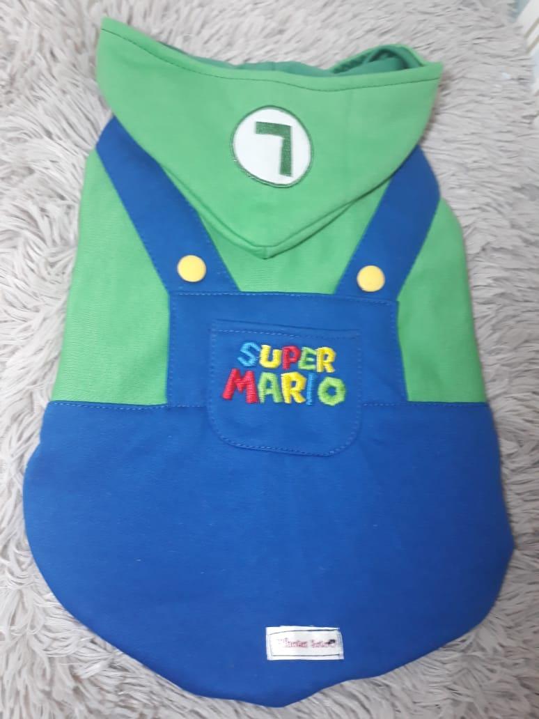 Blusa Moletom Luigi (Mario World)