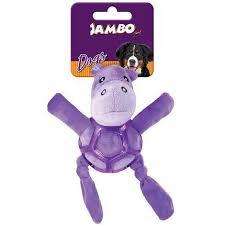 Mordedor de Pelucia Net Ball Hipopotamo Roxo
