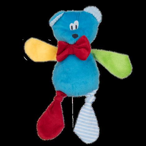 Brinquedo para Cachorro Mordedor de Pelucia Zoo Urso Gravata