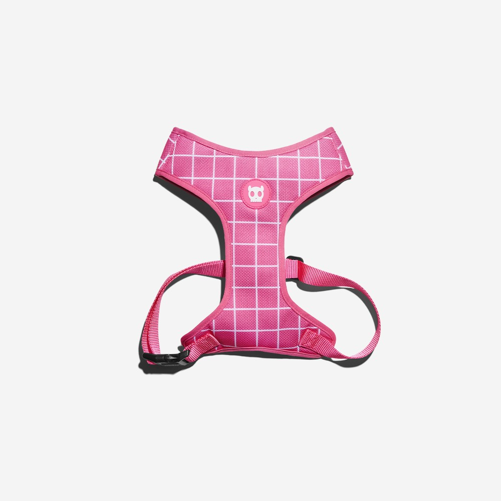 Peitoral Air Mesh Pink Wave - Zeedog