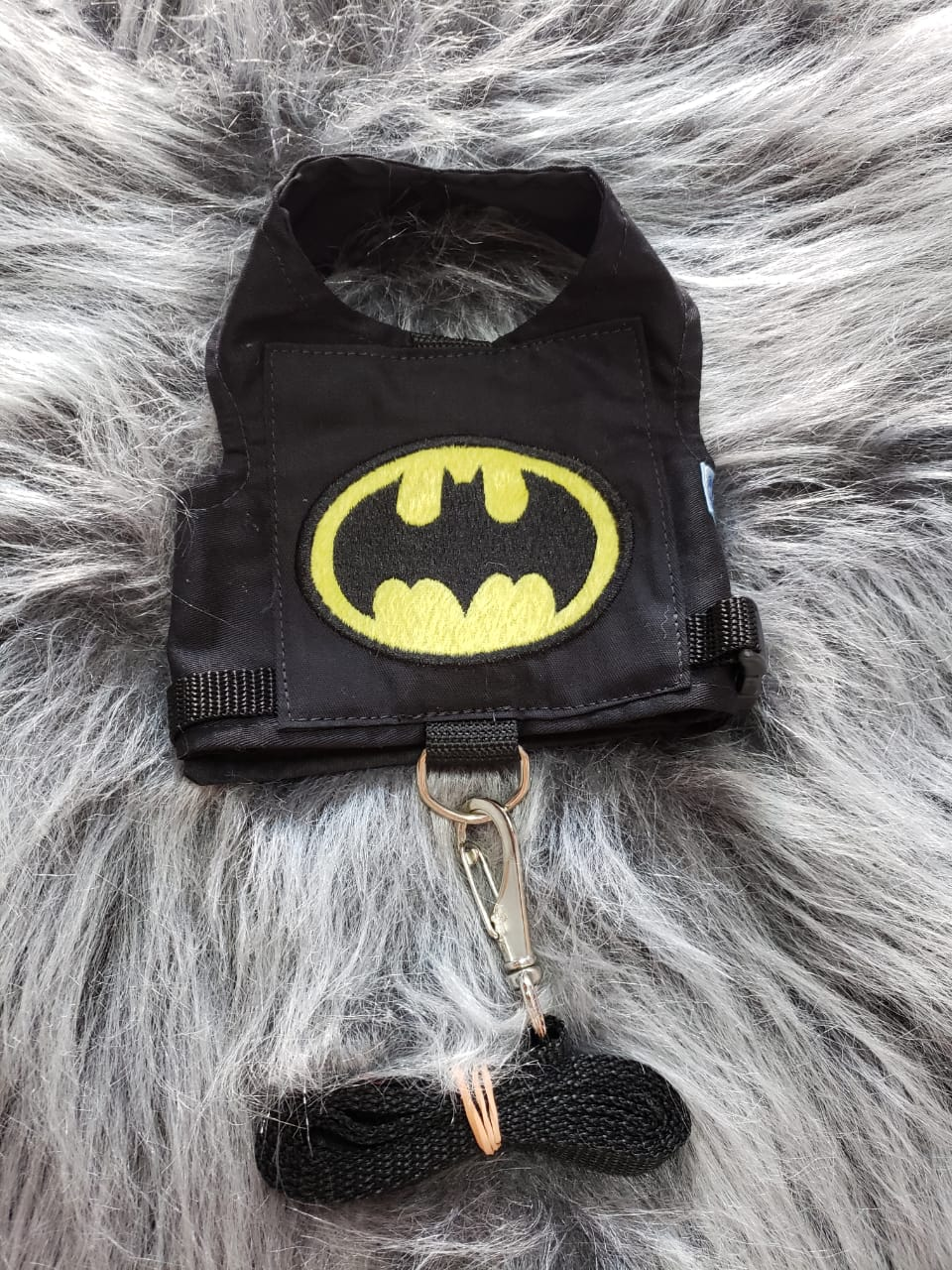 coleira Peitoral para Cachorro Batman