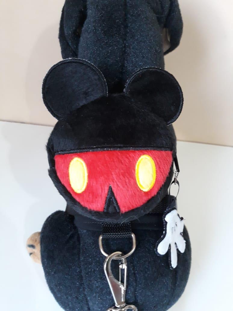 Coleira Peitoral  para Cachorro com Mochila - Mickey