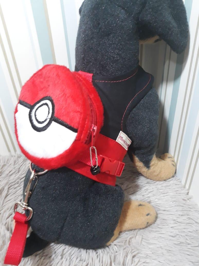 Coleira peitoral para Cachorro Mochila Pokemon
