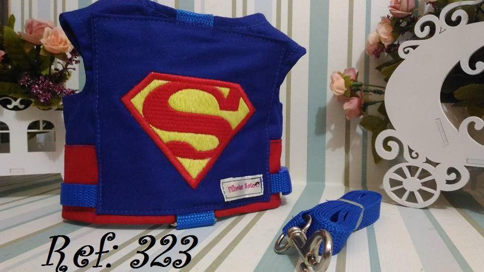Peitoral para Cachorro Superman