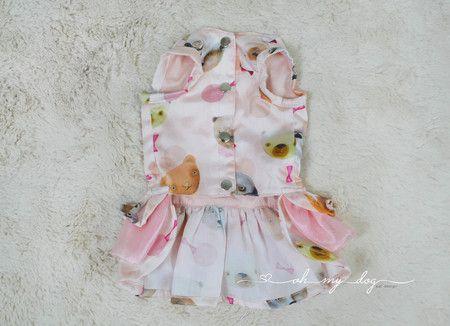Vestido Peitoral Ursos Laika