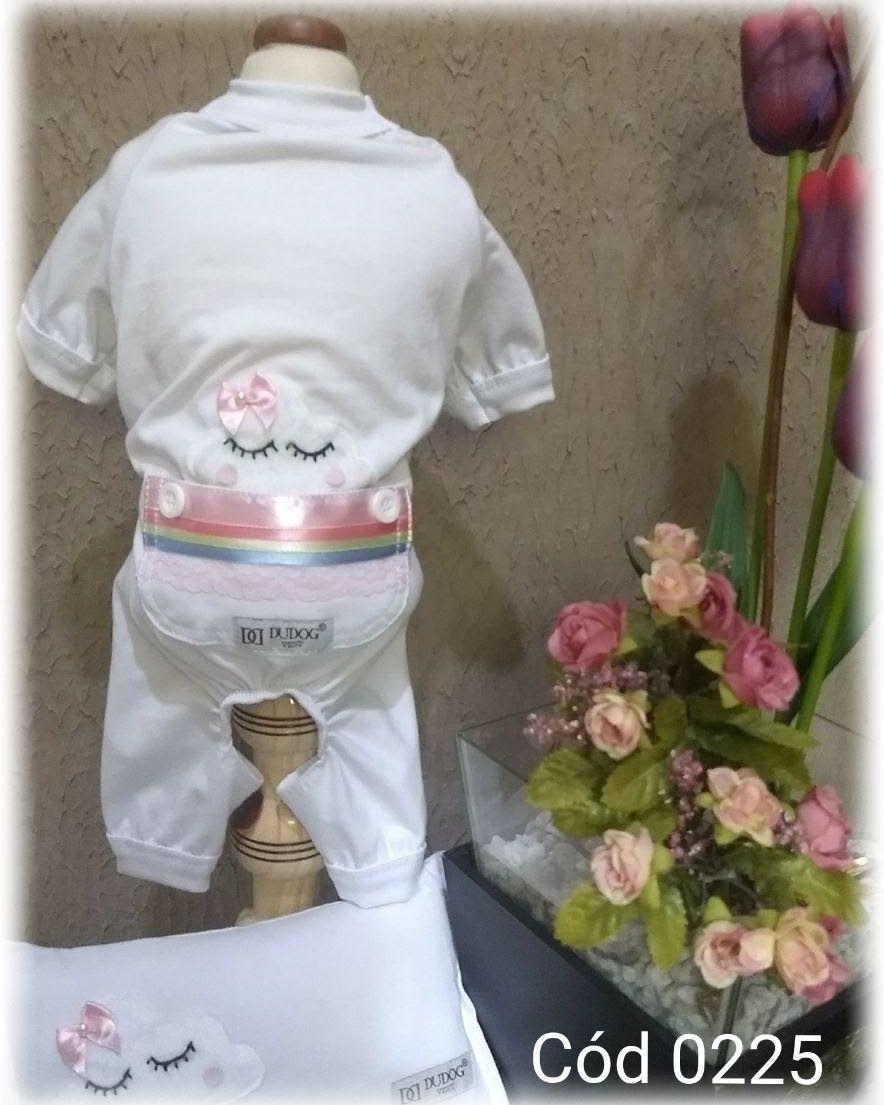 Pijama Arco Iris - Fêmea com Diversas Cores - Com Travesseiro