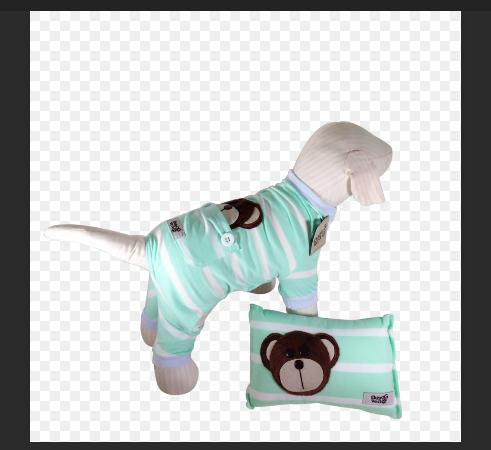 Pijama Listras Verde com Travesseiro
