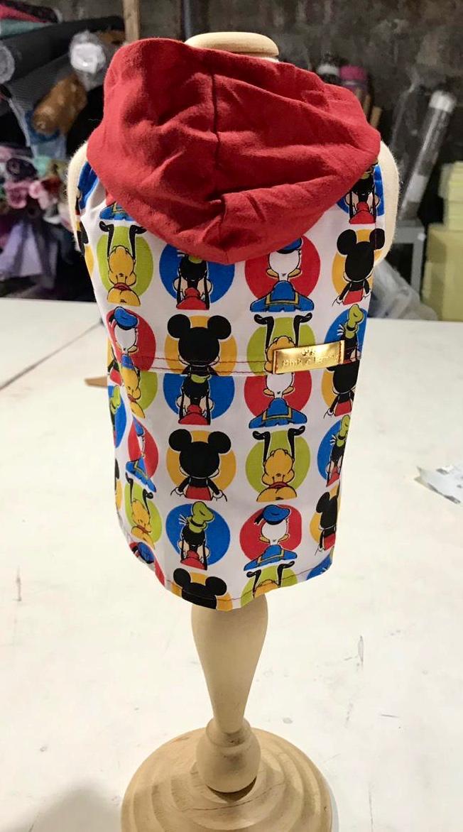 Camisa Regata Mickey - Diversos Personagens com touca