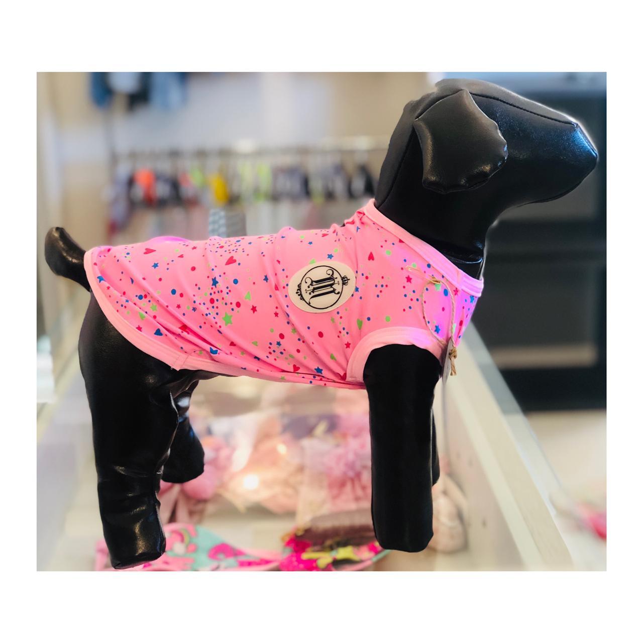 Regata  para Cachorro Proteção UV - Rosa