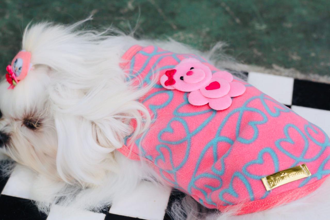 Roupa De Soft- Corações -Rosa