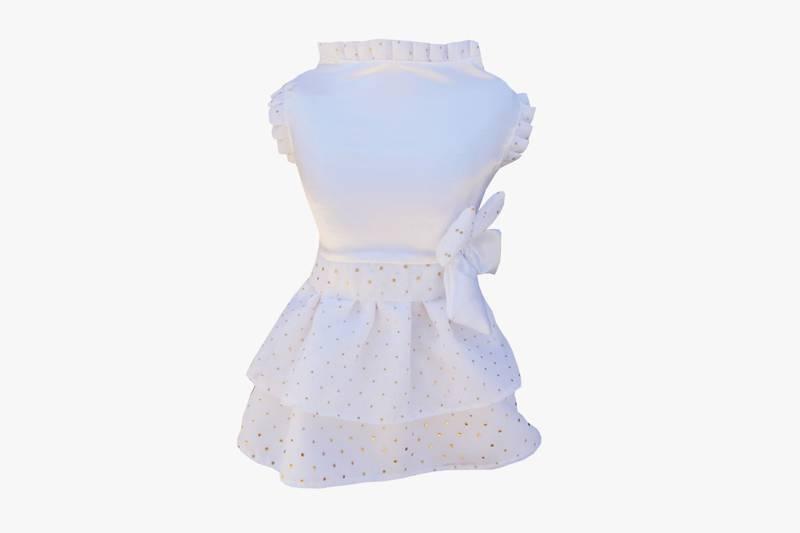 Vestido Bolinha Branco