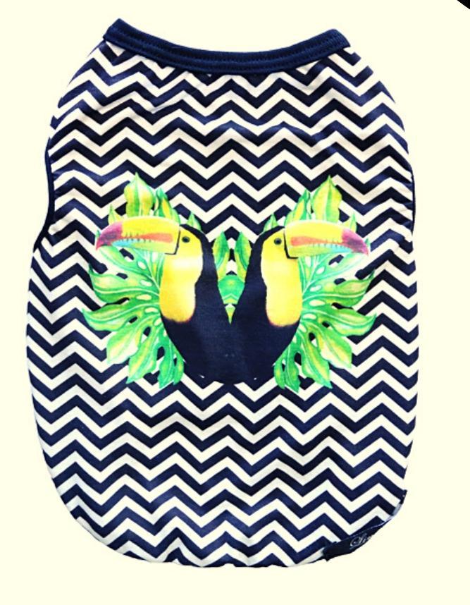 Camiseta para Cachorro - Estampa Tucano