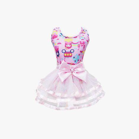 Saia com Body Princesa Rosa