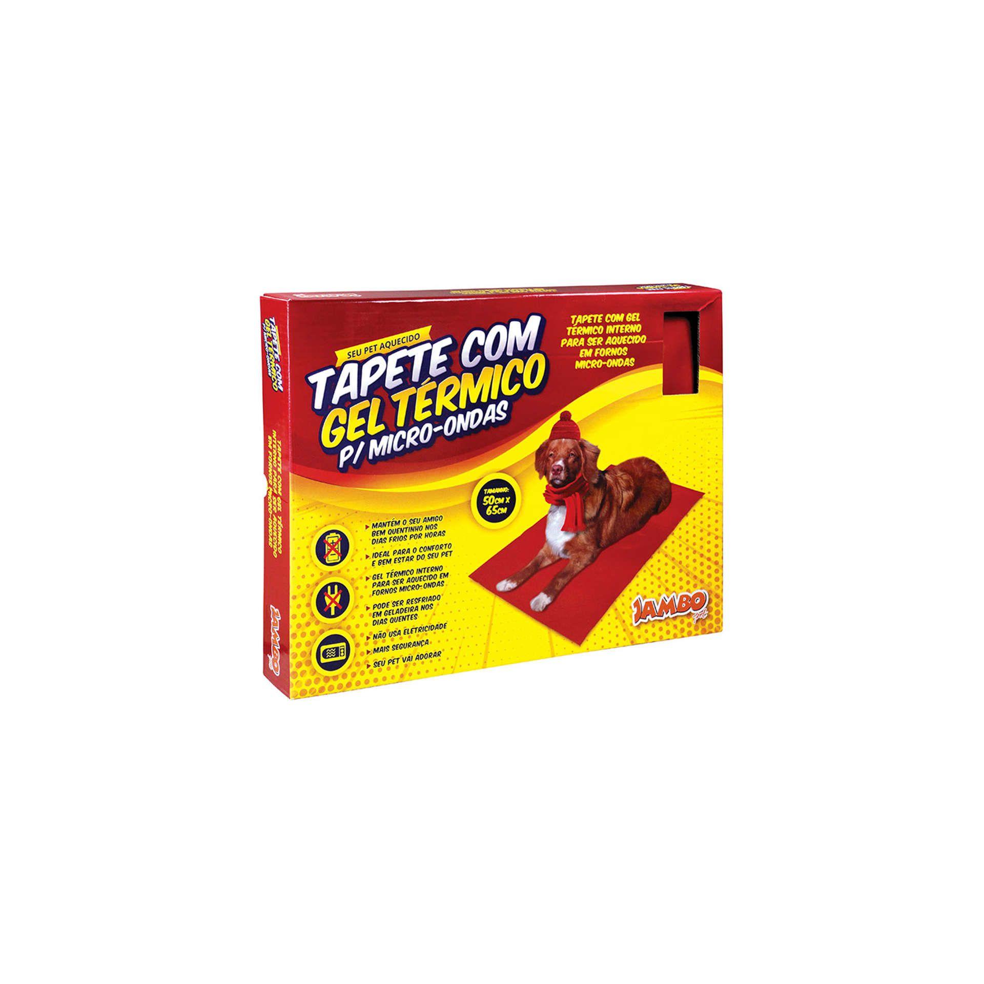Tapete Com Gel Térmico Para Micro-Ondas Jambo