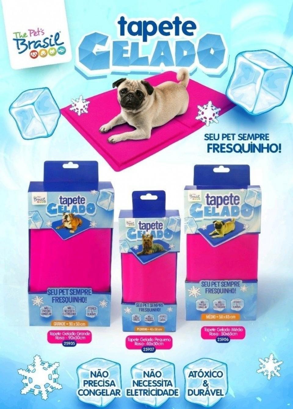 Tapete Refrescante Gelado para Cachorro Rosa