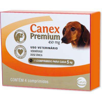 Vermífugo Ceva Canex Premium 450 mg para Cães - 4 comprimidos