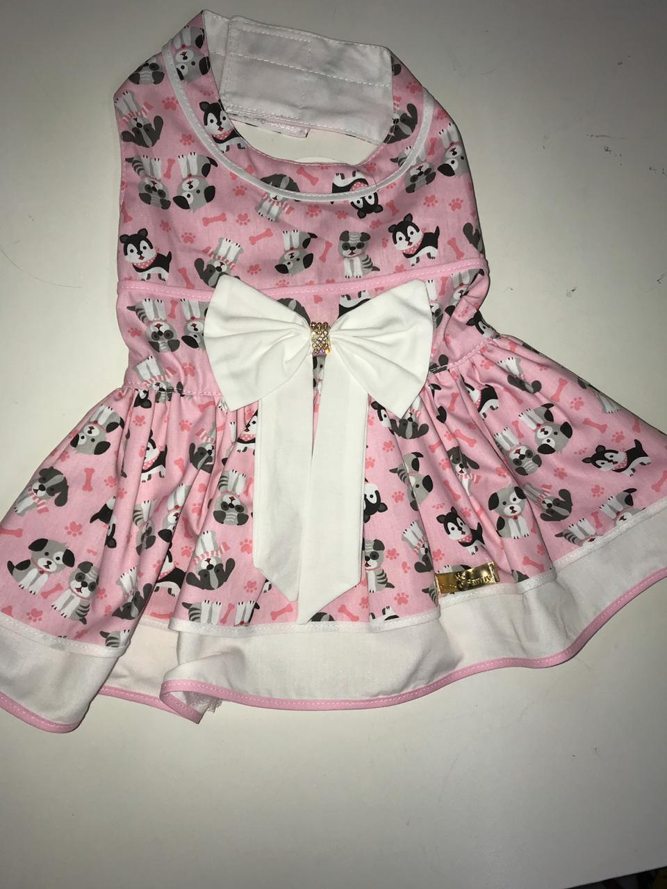 Vestido Rosa Cachorrinhos