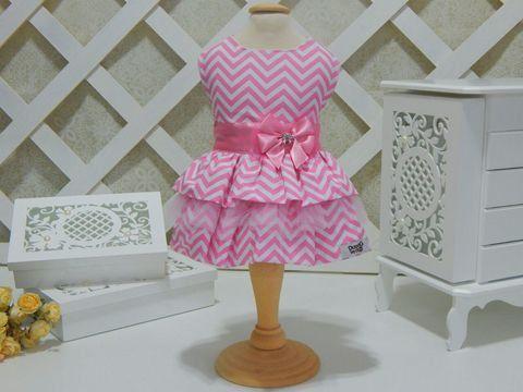 Vestido Chevron Rosa