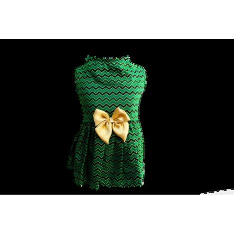 Vestido para Cachorro Chevron Verde - Natal