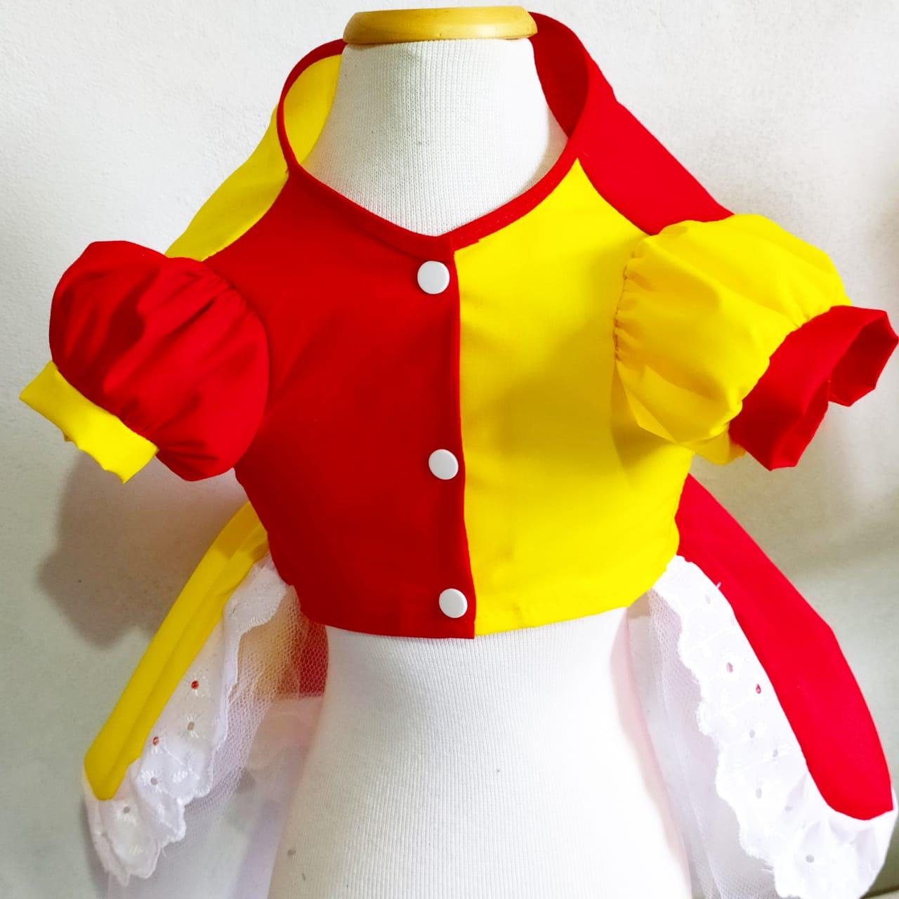 Fantasia para Cachorro Vestido Emilia - Sitio do Pica Pau Amarelo